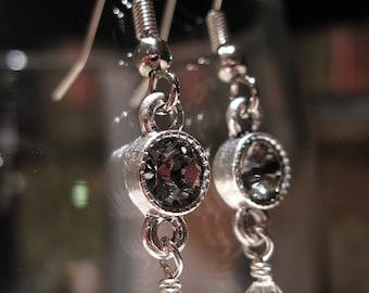 Sparkling Night Sky Swarovski Crystal Earrings
