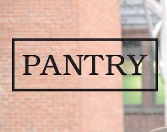 Pantry Decal, Pantry Door Decal, Pantry Wall Decal, Pantry Sign, Wall Decal, Kitchen Decal, Kitchen Wall Decal, Kitchen Sign, Kitchen Decor