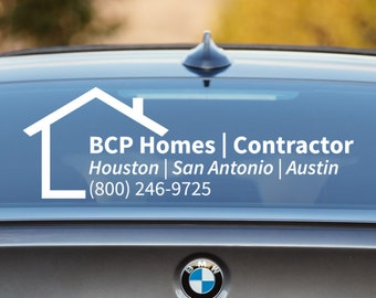 Contractor Decal, Contractor Car Decal, Construction Decal, Construction Car Decal, Business Car Decal, Car Decal, Business Decal, Promotion