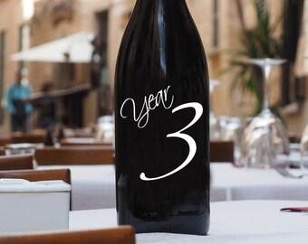 Anniversary Wine Labels, Anniversary Decal, Anniversary Label, Wedding Wine Label, Wine Bottle Number, Wedding Decal, Wedding Sticker, Decal
