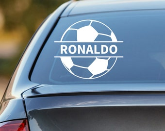 Soccer Decal, Personalized Soccer Decal, Soccer Car Decal, Futbol Decal, Futbol Sticker, Laptop Sticker, Laptop Decal, Football Sticker
