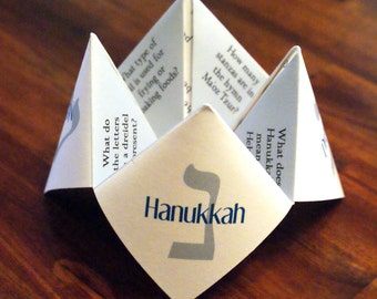 Hanukkah Cootie Catcher, Hannukah, Card, Decoration, Dreidel, Favor, Personalized, DIY, Printable, Invitation, Game, Chanukah, Chanukkah