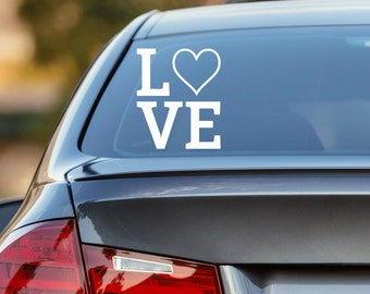 Love Decal, Love Heart Decal, Love Car Decal, Heart Decal, Heart Car Decal, Love Wall Decal, Love, Love Sticker, Laptop Decal, Vinyl Decal