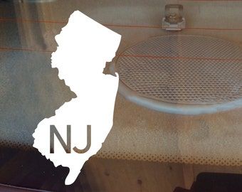 New Jersey Car Decal, State Decal, New Jersey Decal, Laptop Decal, Laptop Sticker, Car Sticker, Car Decal, Vinyl Decal, NJ, Window Decal