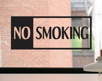 No Smoking Decal, No Smoking Sign, No Smoking Sticker, Front Door Decal, Decal, Business Decal, Window Sticker, Window Decal, Window Sign