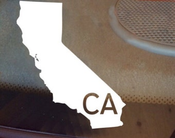 California Car Decal, State Decal, California Decal, Laptop Decal, Laptop Sticker, Car Sticker, Car Decal, Vinyl Decal, CA, Window Decal