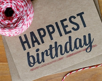 Birthday Card Set of 10 - Happiest Birthday Cards
