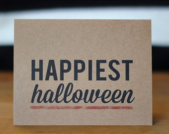 Halloween Card - Recyled Happiest Halloween Card - Eco Friendly