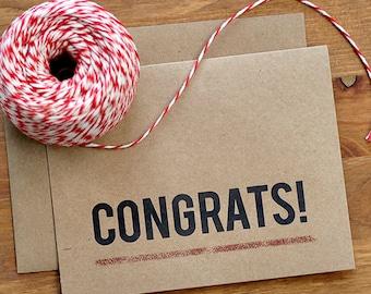 Congrats Card Set of 10 - Simple Hip Congratulations Cards - Graduation Cards