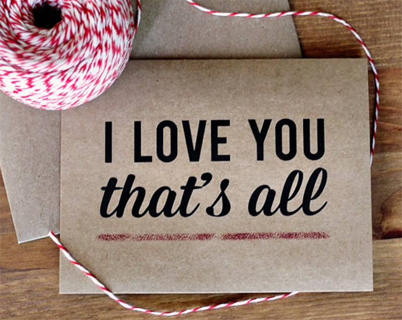 I Love You That's All Greeting Card  Modern Typography image 0