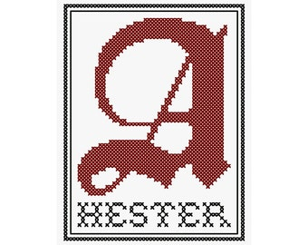 """Hester - Original Cross Stitch Chart 
