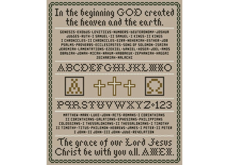 Bible Sampler - Original Cross Stitch Sampler Chart