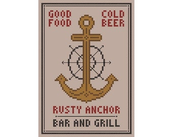 The Rusty Anchor - Original Cross Stitch Chart   Inspired by The Golden Girls