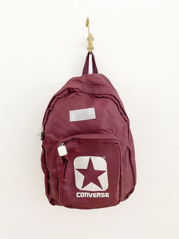 Vintage 1990's Maroon Converse Back Pack, 1990's C