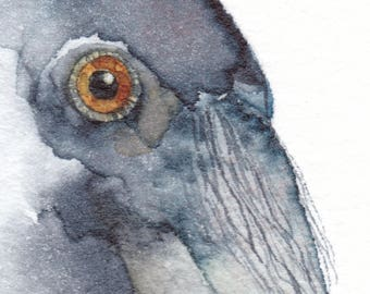 RAVEN ACEO watercolor giclee PRINT spirit totem animal 'Keeper of the Secrets' - Free Shipping
