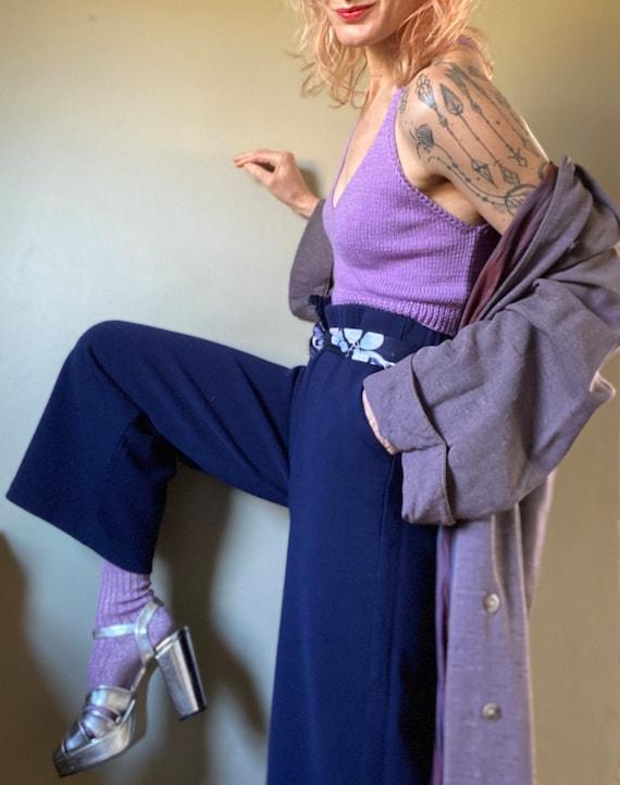 Vintage St. John Navy Sweater Knit Pants - image 3