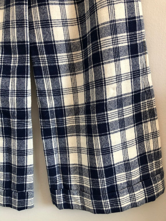 Vintage Woven Plaid High Waisted Wide Leg Trousers - image 9