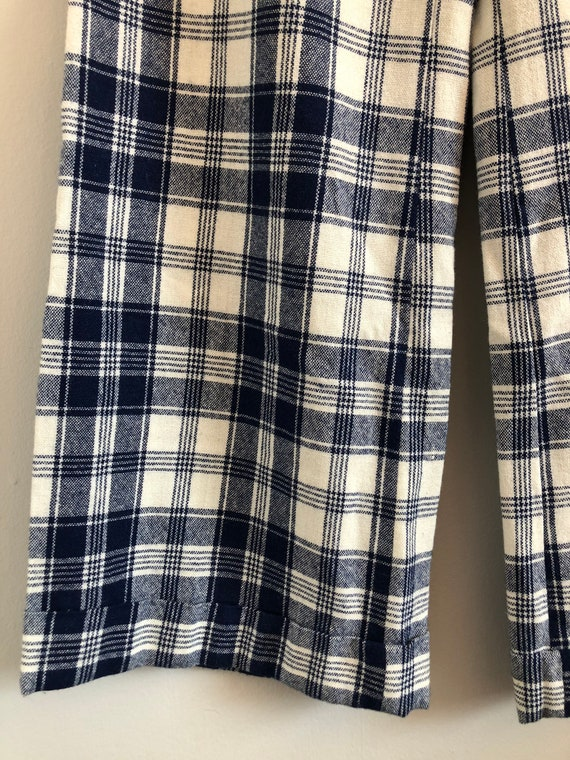 Vintage Woven Plaid High Waisted Wide Leg Trousers - image 8