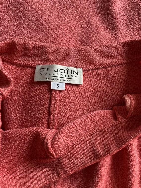 Vintage ST. JOHN Collection Bubblegum Pink Sweate… - image 9