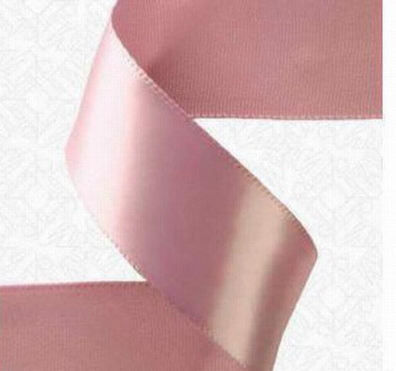 Rosy Mauve 1.5 x 50 yds DOUBLE FACE Satin Ribbon