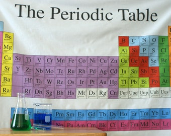 Periodic Table Chemistry Science Cotton Fabric (1 Yard Panel)