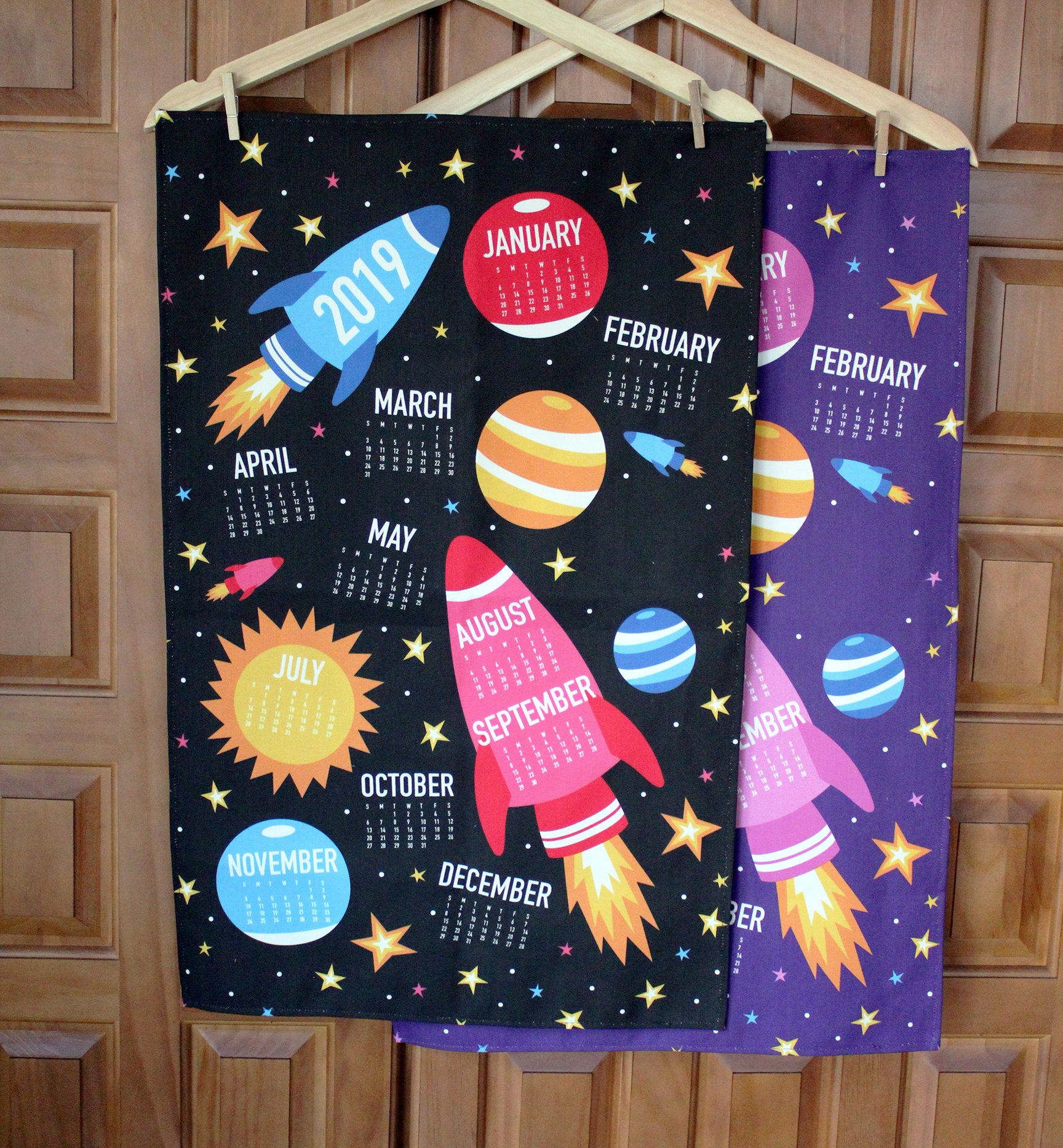 2019 Rocket Space Stars Planets Nerd Geek Tea Towel Calendar Etsy Green Circuit Board Picture Frame By Robyriker