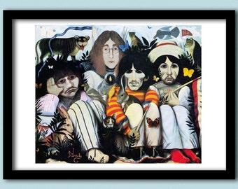 Beatles Poster White Album A Dolls House A2 Size Art60s Rock Classic Art Painting