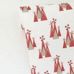Christmas Wrapping Paper; Red Mountains Design; Red Triangle Wrapping Paper