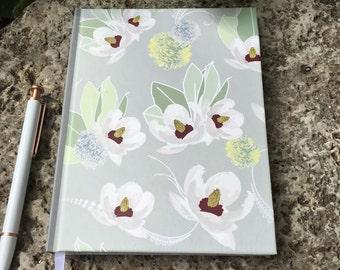 Lined Writing Journal in Floral Design; Hardback Journal, Bridesmaid Gift, Hostess Gift, Teacher Gift