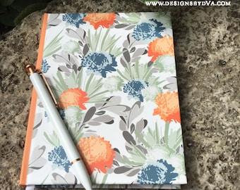 Hardback Journal in Floral Design; Lined Writing Journal