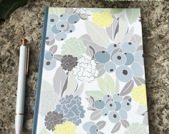 Hardback Journal with Floral Pattern; Lined Writing Journal