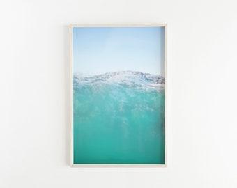 Teal Mountain PRINTABLE Abstract Wall Art, Abstract Landscape, Wall Decor, Printable Art, Wall Art