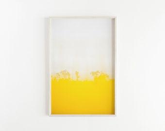 Yellow & White PRINTABLE Abstract Wall Art, Abstract Landscape, Wall Decor, Printable Art, Wall Art