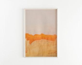 Orange & Yellow PRINTABLE Abstract Wall Art, Abstract Landscape, Wall Decor, Printable Art, Wall Art