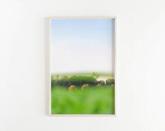 Green & Blue PRINTABLE Abstract Wall Art, Abstract Landscape, Wall Decor, Printable Art, Wall Art