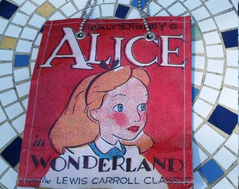 Disney Alice in Wonderland handbag - coated paper and ball chain