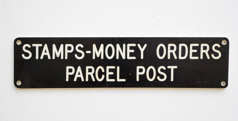 Postage    Small Vintage Plastic Postal Sign, Stamps-Money Order Parcel  Post, Wall Art, Home Decor, Vintage Home