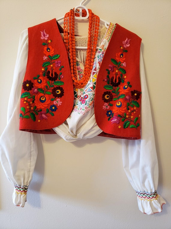 Vintage Embroidered Hungarian Vest from Budapest;