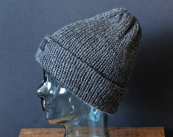 Double Knit Soft and Cozy Beanie in Grey