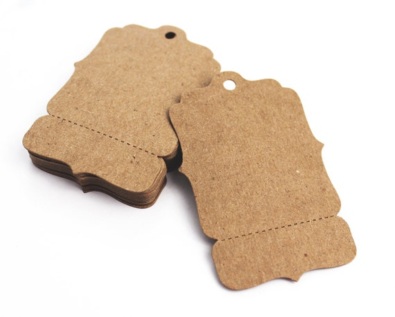 100 Hang Tags Medium 2 X 3 Perforated Blank Price Etsy