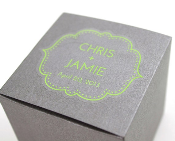 Wedding Stickers 48 Personalized Clear Favor Stickers Etsy