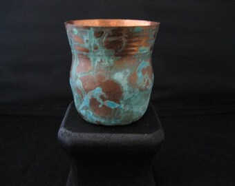 Patina copper cup