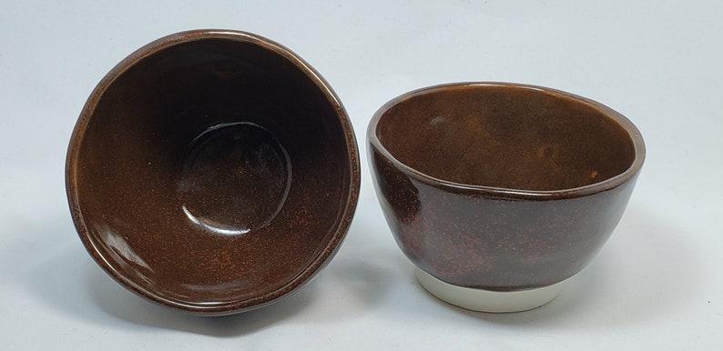 Stoneware Pottery Ceramic Tea Bowl Tea Cup Miso Soup Persimmon