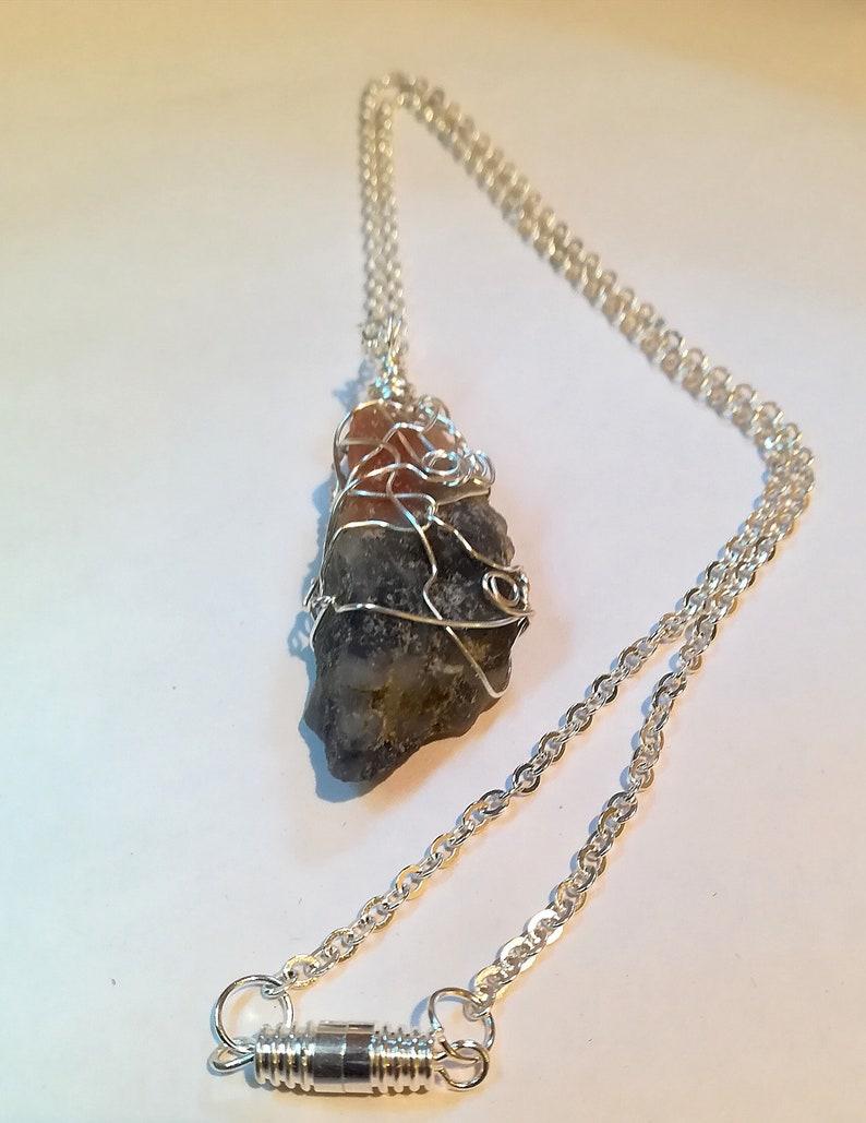 Reiki Gift for Her Handcrafted Wire Wrapped Iolite Sunstone Gemstone Pendant Yoga Jewelery Healing Crystal,Boho Jewelery Power Crystal