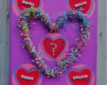 Heart Mixed Media Painting