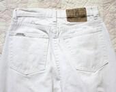 90s Jordache White Jeans Straight Leg Slim Size 26 S