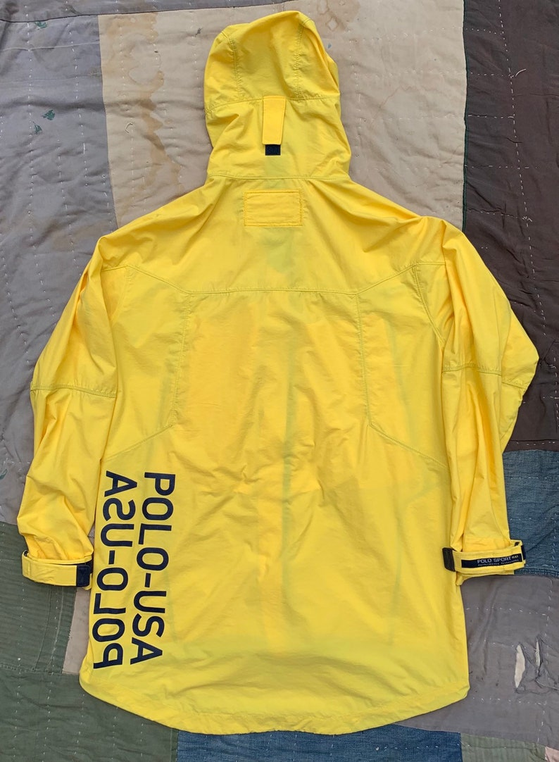 agreatvarietyofmodels super service no sale tax INSANE 1990s Polo Sport USA Rain Jacket Medium Spell Out Stadium Cold Wave  Flag 92 94 Spell Out Bear Ralph Lauren