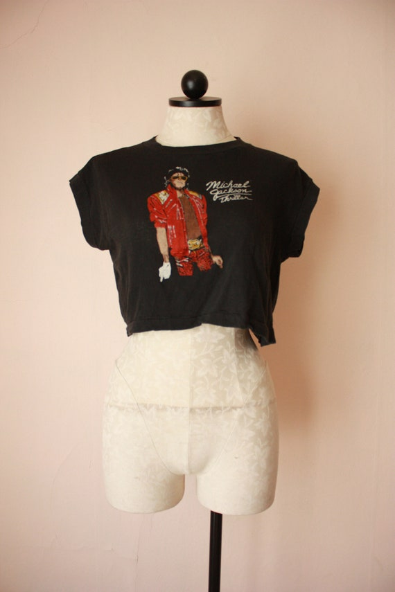 Deadstock 80s Michael Jackson Thriller Crop Tops V