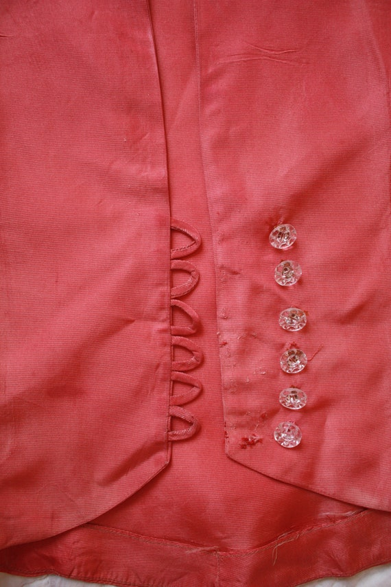 30s Pink Silk Bias Cut Gown with Puffed Shoulder … - image 10