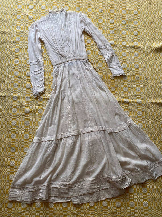 AS IS Thrashed Edwardian Lawn Dress Size XXS
